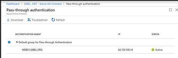 Gi_Blog - Change Azure AD Connect sign-in from ADFS to Pass-through